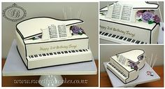 Ivory grand piano 100% edible #cake #fondant