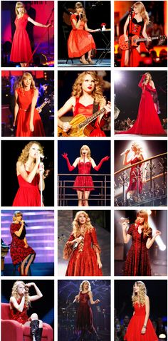 taylor swift in RED dresses