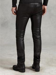 Motor Cross Skinny Fit Leather Jean - John Varvatos