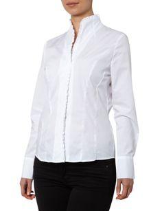 CHRISTIAN-BERG-WOMAN Bluse aus Baumwolle mit feinem Rüschenbesatz in Weiß online kaufen (9361263) » P&C AT Online Shop