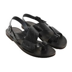 Sandalo carrarmato nero da uomo