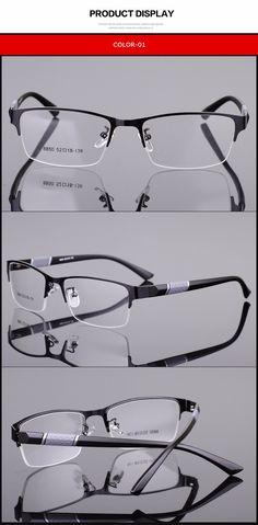 Spectacle Frame Silhouette Eyeglasses Men Computer Optical Eye Glasses Frame For Male Transparent Lens Armacao Oculos de RS077 - Ali Fashion Market
