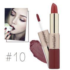 O. DOIS. O Lábios Marca de Maquiagem Matte Lipstick & Lip Rouge um levre Fosco Gloss 2 em 1 batom fosco Lábios Do Bebê À Prova D' Água Com Duração maquiage