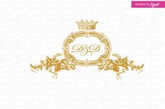 Royal Wedding Logo by Linvit on Etsy