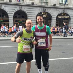 Two of our runners at the British 10k London Run.  Find your challenge at http://teensunitefightingcancer.org/what-can-you-do/challenges/