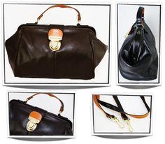 Bruin met oranje tas (dokterstas model) T0013
