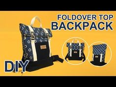 This time I made a roll-top backpack. This video will teach you how to make bags. Backpack Tutorial, Diy Backpack, Backpack Pattern, Sew Wallet, Diy Bags Purses, Fabric Tote Bags, Top Backpacks, Rolling Backpack, Bag Pattern Free