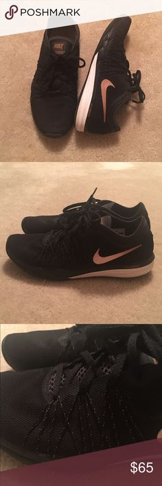 • Nike Rose Gold Dual Fusion • A tad bit tight on my wide feet. 😔 Amazing like new condition.  ❌No Trades 🍃Absolutely all offers are welcomed. Nike Shoes Athletic Shoes