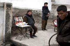 Secter market exposes NK food shortage 2012. Unofficial Pyongyang vendors sell goods on the black market Eric Lafforgue
