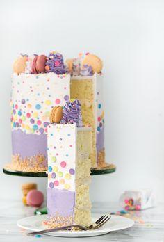 Toasted Caramel Coconut Cake Recipe - The Sugar Coated Cottage Cake Photography, Light Photography, Purple Food Coloring, White Buttercream, Quick Cake, House Cake, Raspberry Cheesecake, Cake Board, Cake Flour