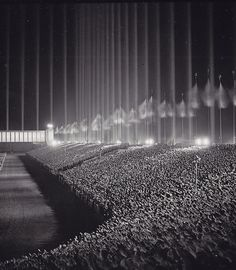 Nuremburg Cathedral of Light, 1936, by Roger Schall. I've been here.
