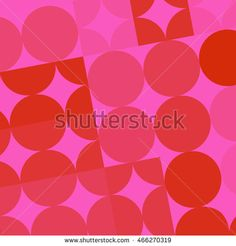 Retro Circles and Squares in Pinks and Reds - buy this illustration on Shutterstock & find other images.