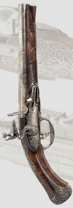 A flintlock pistol, Brescia, ca. 1660.