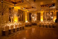 Gorgeous wedding at Rosewood Crescent Hotel in Dallas, Texas. BEYOND used champagne wedding lighting to create a romantic ambiance! www.beyondld.com