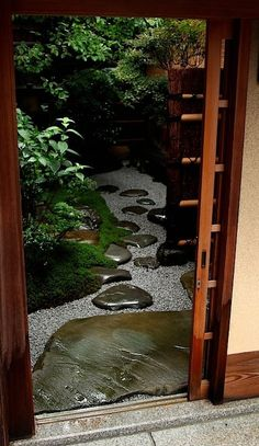 We love this Asian inspired path and it's so simple to make...it just takes a bit of imagination (or perhaps a bit of zen?)