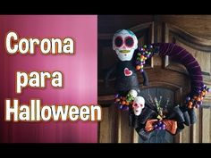 Corona sencilla de Halloween - YouTube Halloween, Wreaths, Youtube, Home Decor, Simple, Crowns, Furniture, Homemade Home Decor, Door Wreaths