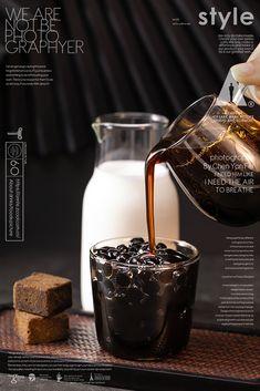 黑研舍 chinese style Of bubble milk tea Bubble Tea Shop, Bubble Milk Tea, Food Poster Design, Food Design, Coffee Photography, Food Photography, Drink Menu, Food And Drink, Drinks Alcohol Recipes