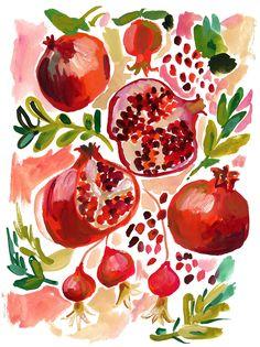 gouache painting by Augustwren // Jennifer Orkin Lewis Food Painting, Painting & Drawing, Painting Inspiration, Art Inspo, Gouche Painting, Arte Sketchbook, Guache, Watercolor Paintings, Watercolors