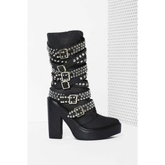 Jeffrey Campbell Ruckus Leather Boot