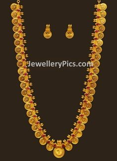 Latest Indian Jewellery designs and catalogues in gold diamond and precious stones Gold Mangalsutra Designs, Gold Jewellery Design, Gold Jewelry Simple, Long Pearl Necklaces, Jewelry Model, Indian Jewelry, Kerala Jewellery, Temple Jewellery, Wedding Jewelry