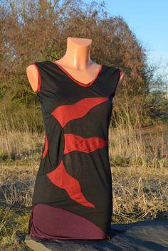 "Zipfel Shirt ""Sun"" mit Ethno,Elfe, Goa, Psy, Top von Nomadic-Affairs auf DaWanda.com"