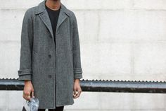 Street Style: vintage jacket, Uniqlo sweater