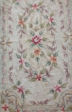 Vintage Hooked Rug Soft Shades Shabby Chic by sewbeautiful2, $45.00