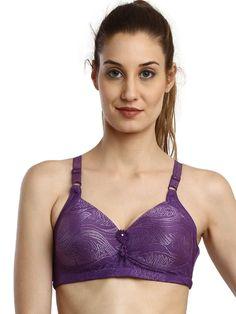 525c543fbf Shyle Purple Design Embossed Moulded Bra Online Lingerie