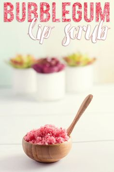 Save your cash and pamper your lips at home with this amazing DIY Bubblegum Lip Scrub! Your lips will thank you!