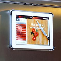 Frig Pad - Magnetic Refrigerator Mount for iPad    -    Great idea!