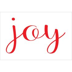 Joy Stencil Christmas Signs Design Baller 9 Sizes Create Cottage Signs... ($6.95) ❤ liked on Polyvore featuring home, home decor, throw pillows, decorative pillows, home & living, home décor, light yellow, vinyl signs, hand signs and text signs