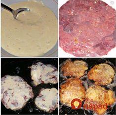 Pripravujete pečienku vždy rovnako? Obaľte ju v smotanovom cestíčku a vypražte ako rezne, neskutočná pochúťka! Pork, Beef, Ethnic Recipes, Cooking, Kale Stir Fry, Meat, Kitchen, Pork Chops, Brewing