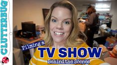 I'm Filming a TV SHOW! Behind the Scenes - YouTube Declutter, Organizing Tips, Organization, Behind The Scenes, Tv Shows, The Creator, The Incredibles, Film, Youtube