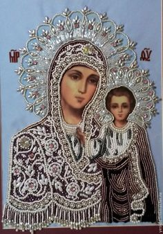 БОГОРОДИЦА КАЗАНСКАЯ Blessed Mother Mary, Divine Mother, Blessed Virgin Mary, Religious Images, Religious Icons, Religious Art, Monastery Icons, Virgin Mary Art, Hail Holy Queen