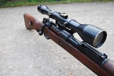 Deactivated Mauser Sniper Rifle - the infamous fitted with various scope configerations - Check this page for Deactivated Kar 98 Mauser Sniper Rifle! Weapons Guns, Guns And Ammo, Airborne Ranger, K98, German Army, Small House Design, Paintball, Revolver, Firearms