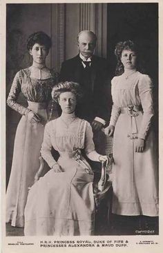 Louise and Alexander with Alexandra and Maud