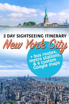The ultimate sightseeing itinerary with maps! Usa Travel Guide, Travel Usa, Travel Tips, New York City Travel, Mexico Travel, Travel Inspiration, Travel Ideas, Road Trip Usa, United States Travel