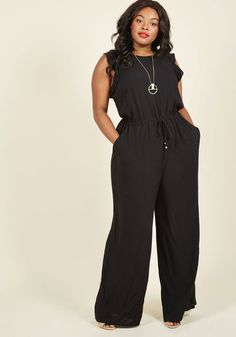 One Step to Winsome Jumpsuit in Black