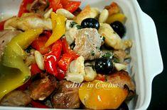 straccetti di pollo con salsiccia e peperoni al forno ricetta arte in cucina