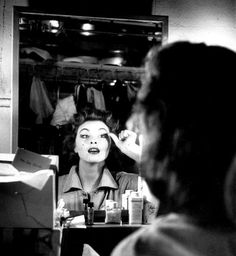 A Young Tina Louise Backstage 1952