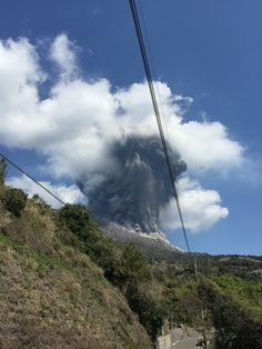 Sakurajima volcanic eruption