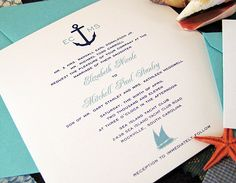 cruise wedding invitation
