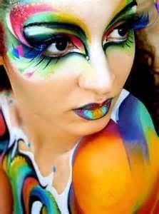 Soleil Style, Soleil Makeup, Lips Makeup, Cirque Du Soleil, Soleil Stuff, Oz Makeup, Multicoloured Eye, Cirque Su, Face Painting