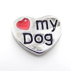 Love My Dog Floating Charm, for Memory Lockets, Living Lockets, Origami Owl, Floating Charm Lockets
