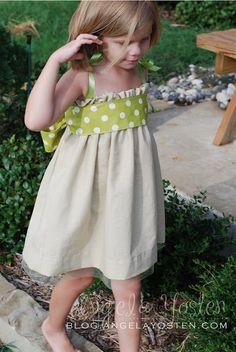 Girls Garden Dress featured in Stitch magazine - spring 2012