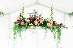 drop down florals | gorgeous for over your reception