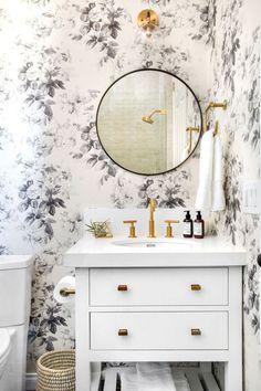 bathroom floral homebunch inspiration renovation shelves oak paint cabinet decorating inspiring