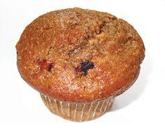 Muffin au son, bleuets et canneberges=340 calories