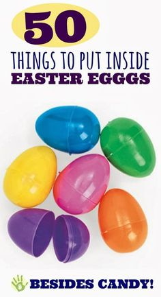 March or April...  50 things to hide in Easter eggs BESIDES CANDY!  So many fun ideas! Not all items suitable for all ages