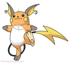 How to Draw Raichu from Pokemon step by step